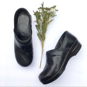 Dansko black professional clogs